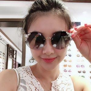Miu Miu Sunglasses Pale Gold w/Silver Lens